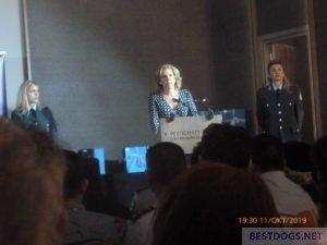 Speaker at the book presentation