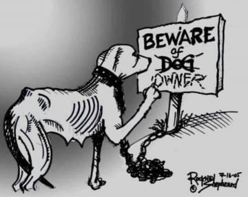 Beware of owners of chain dogs