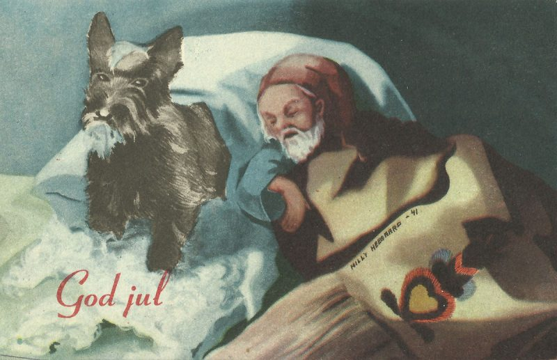 Christmas card 'God jul'